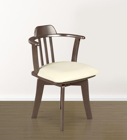 buy atlanta dining chair set of 2 in dark brown colour by godrej