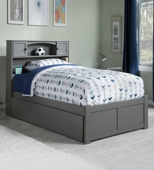 brand new 223f1 83f0f Atlantic Queen Bed with Storage Headboard in Grey by URGE
