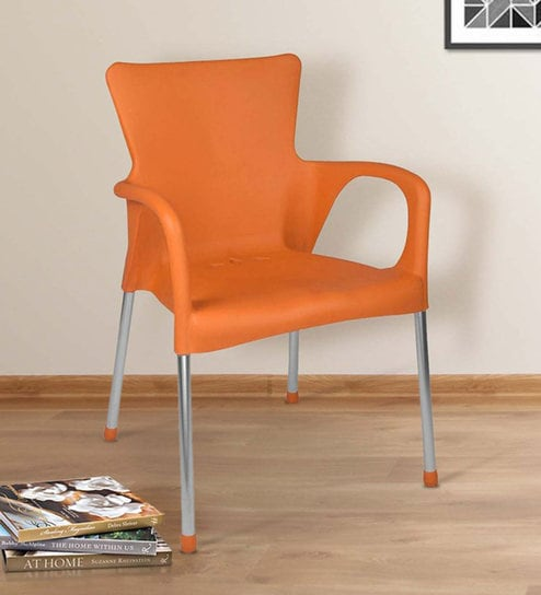 Buy Atlantis Chair In Orange Colour By National Set Of 2 Online