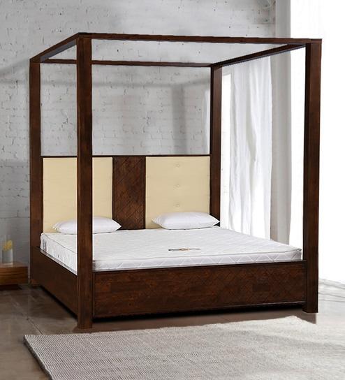 Buy Atlas 4 Poster King Bed In Walnut Finish By Hometown Online