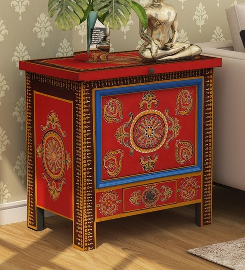 Atul Solid Wood Hand-Painted Trunk by Mudramark