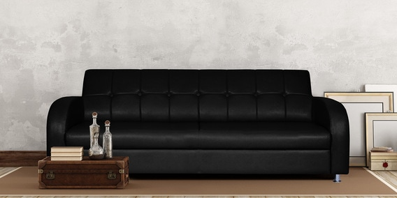 Admirable Atlanta 3 Seater Sofa In Black Colour By Adorn Homez Ocoug Best Dining Table And Chair Ideas Images Ocougorg