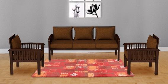 Buy Atlantis Teak Wood Sofa Set 484848 In Mahogany Finish By Beauteous Atlantis Bedroom Furniture Style Decoration