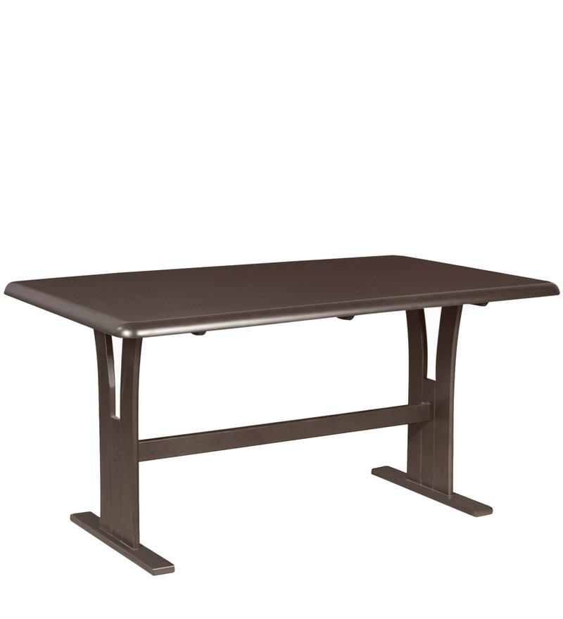 Godrej Modular Kitchen Prices In Haryana: Buy Atlanta Six Seater Dining Table In Dark Brown Colour