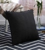 At Home Dark Grey Cotton 20 x 20 Inch Cushion Cover