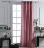 At Home Pink Cotton 96x42 Inch Door Curtain