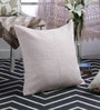 At Home Pink Linen 20 x 20 Inch Cushion Cover