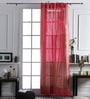At Home Red Cotton 106 x 53 Inch Door Curtain