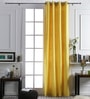 At Home Yellow Cotton 96x42 Inch Door Curtain