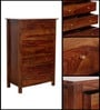 Maritsa Chest with seven Drawers in Provincial Teak Finish by Woodsworth
