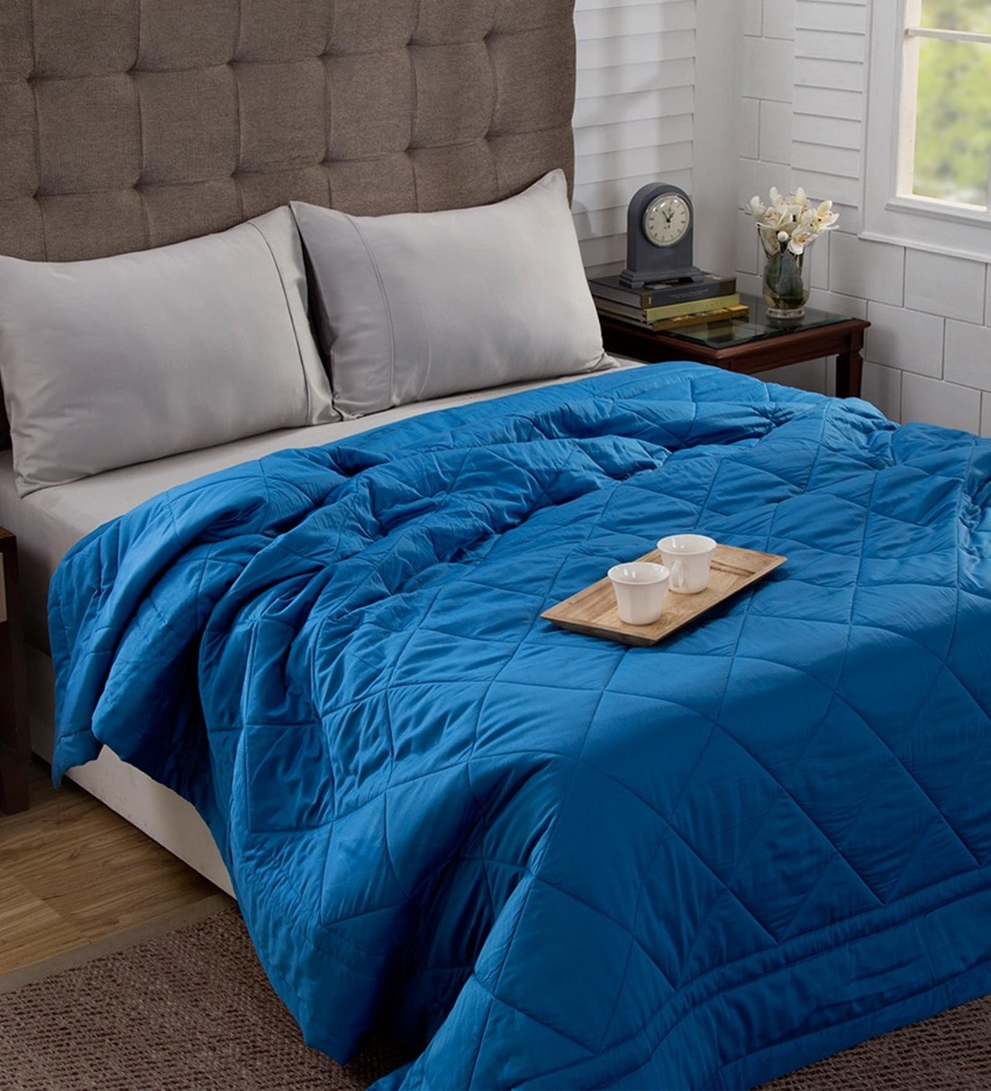 Buy Aura 100 Cotton 120 Gsm Ac Room Queen Bed Quilt By Maspar Online Abstract Double Bed Quilts Comforters Bed Linen Furnishings Pepperfry Product