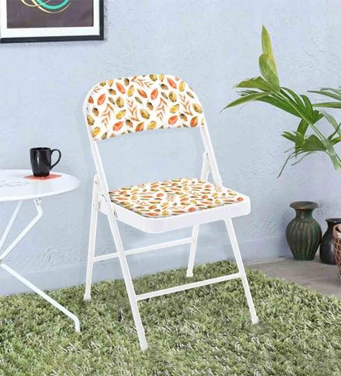 Fine Autumn Designer Metal Folding Chair In White Matt Colour By Nutcase Frankydiablos Diy Chair Ideas Frankydiabloscom