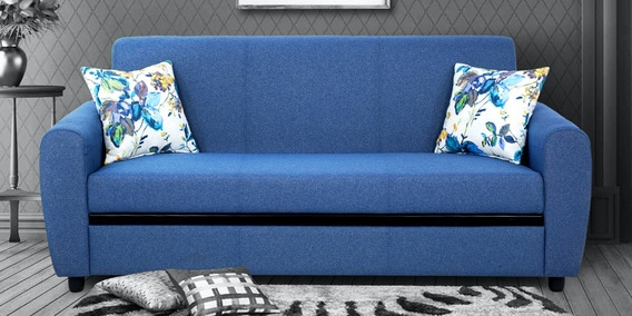 Buy Austin 3 Seater Sofa In Blue Colour By Urban Living Online Lawson Sofa Sets Sofa Sets Furniture Pepperfry Product