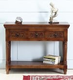 Avagraha Console Table in Provincial Teak Finish
