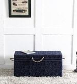 Avapana Trunk with Weaving Work in Blue Color