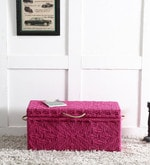 Avapana Trunk with Weaving Work in Pink Color