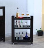 Avian Solid Wood Bar Trolley in Warm Chestnut Finish