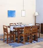 Avian Solid Wood Six Seater Dining Set in Provincial Teak Finish