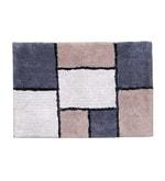 Beige and Grey 100% Cotton 26 x 36 Inch Blocks Door Mat