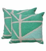 Multicolour Poly Cotton 17.7 x 17.7 Inch Direction Cushion Cover - Set of 2