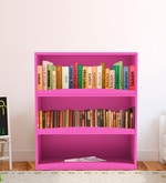 Avitus Multipurpose Storage Rack cum Book Shelf in Pink Colour