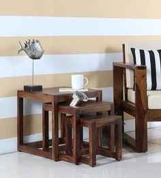 Avian Set Of Tables In Provincial Teak Finish