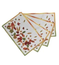 Avira Home Multicolour Autumn Leaves Table Mats - Set Of 4