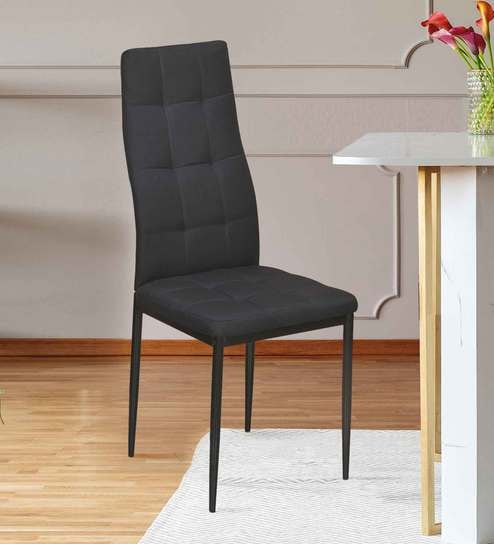 Buy Ava Metal Dining Chair in Black Colour by @home Online - Parsons Dining Chairs - Dining - Furniture - Pepperfry Product & Buy Ava Metal Dining Chair in Black Colour by @home Online - Parsons ...
