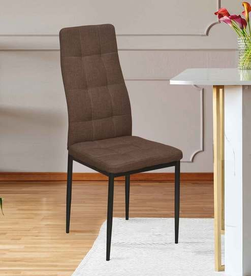 At Home Dining Chairs.Ava Metal Dining Chair In Brown Colour By Home