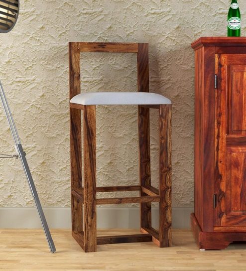 Awe Inspiring Avian Solid Wood Bar Stool In Provincial Teak Finish By Woodsworth Ocoug Best Dining Table And Chair Ideas Images Ocougorg