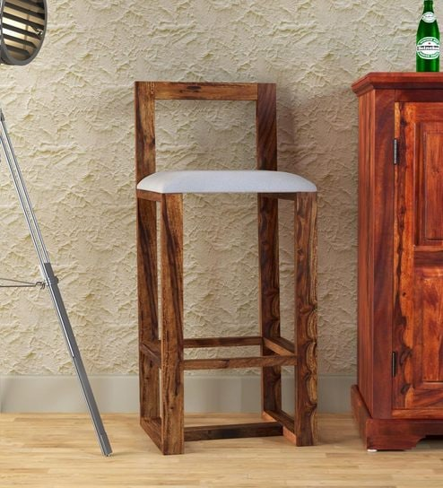 Avian Solid Wood Bar Stool In Provincial Teak Finish By Woodsworth
