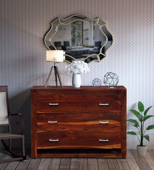 new product f405a 1fea8 Avian Solid Wood Chest of Drawers in Honey Oak Finish by Woodsworth