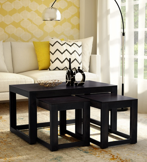 Avian Solid Wood Nesting Coffee Table