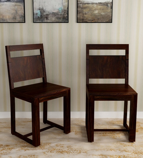 Buy Avian Solid Wood Dining Chair (Set of 2) in Warm ...