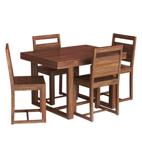 Avian Solid Wood Four Seater Dining Set in Provincial Teak Finish by Woodsworth