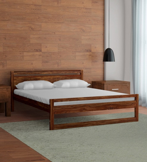 Astonishing Avian Solid Wood King Size Bed In Provincial Teak Finish By Woodsworth Dailytribune Chair Design For Home Dailytribuneorg