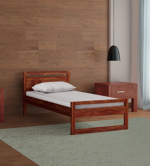 Avian Solid Wood Single Bed In Provincial Teak Finish By Woodsworth