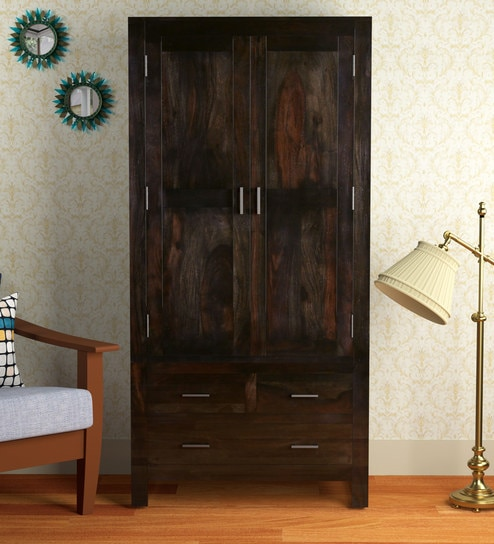 best service 57ccd 34f76 Avian Solid Wood 2 Door Wardrobe in Warm Chestnut Finish by Woodsworth