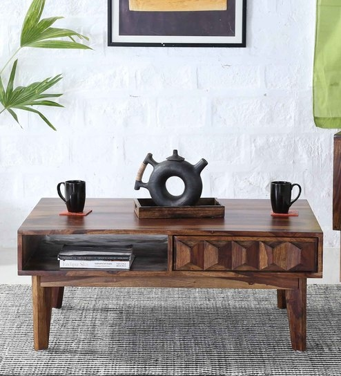 Avilys Solid Wood Coffee Table In Provincial Teak Finish By Woodsworth