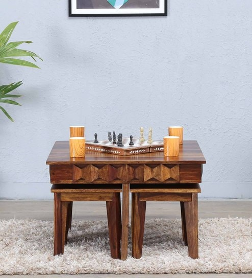 Avilys Coffee Table Set In Provincial Teak Finish
