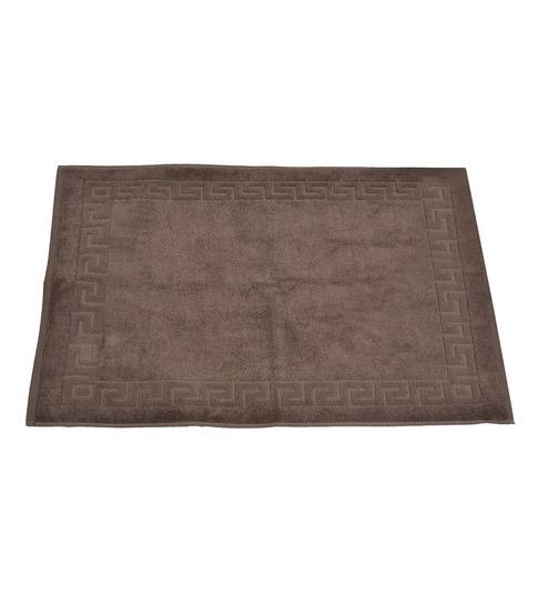 Avira Home Dark Brown 100% Cotton 20 X 30 Inch Greek Design Terry Door Mat