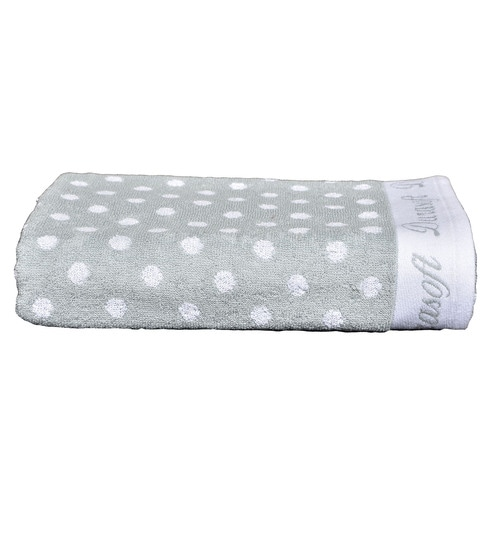Laurel Green Cotton 30 X 67 Inch Durasoft Polka Dot Bath Towel By Avira Home
