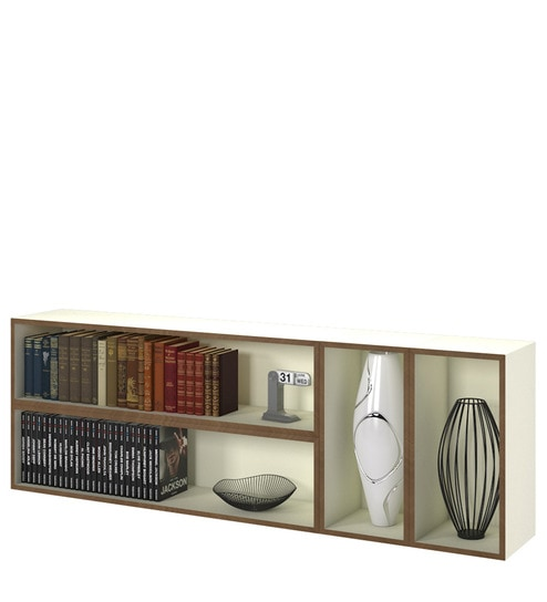 Avis Wall Mounted Bookshelf In White Colour By Forzza