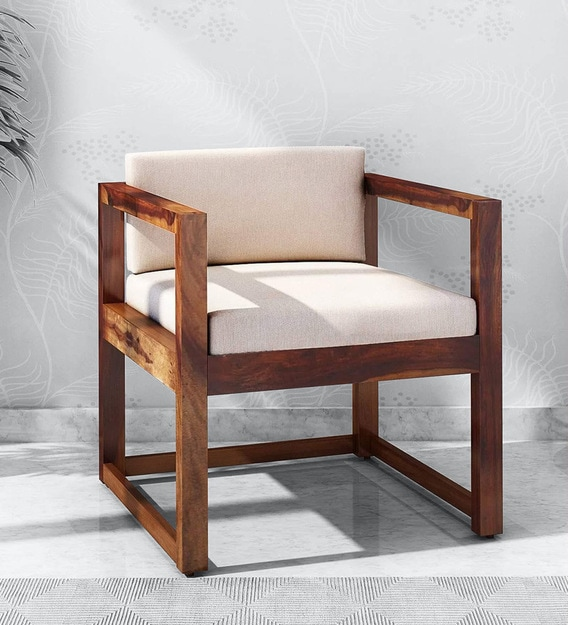 Avian Solid Wood Armchair In, Occasional Chairs With Wood Arms