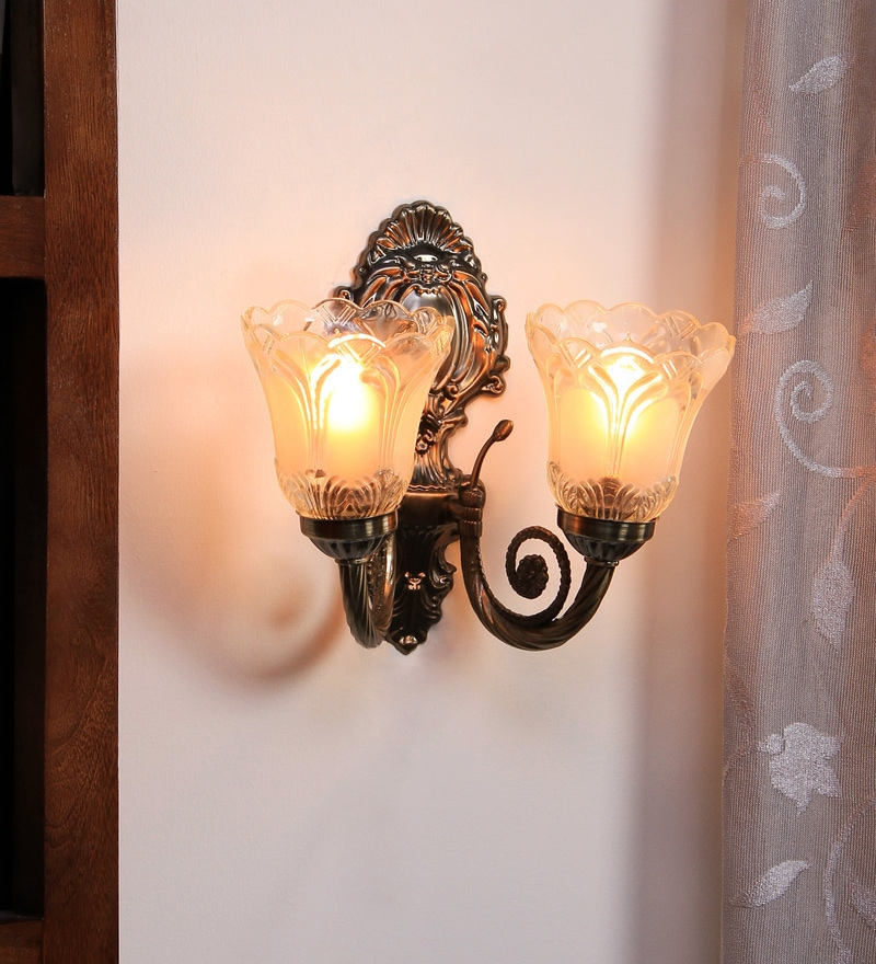 Buy Antique Double Shade Uplighter Wall Mounted Light by Aesthetic Home Solutions Online ...
