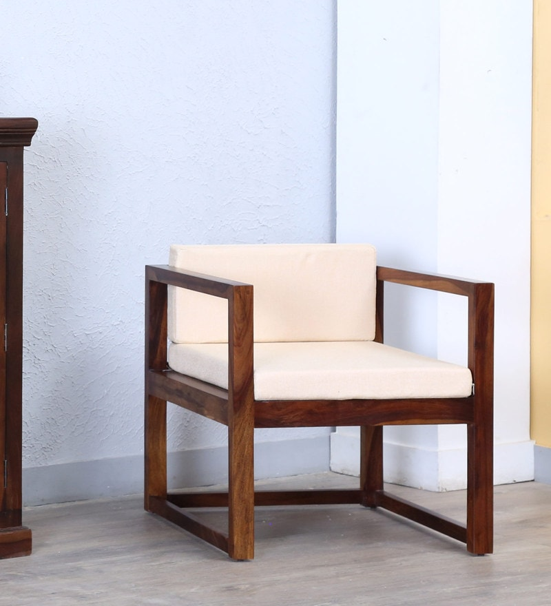 Avian Arm Chair in Provincial Teak Finish by Woodsworth