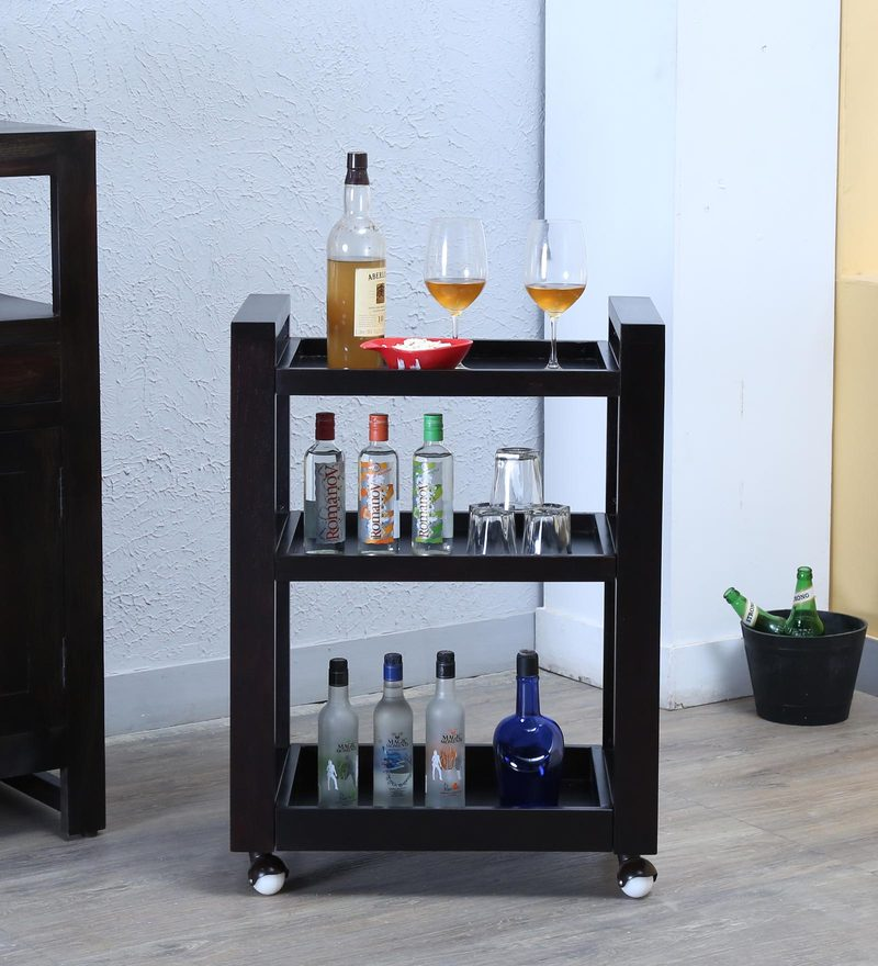 Avian Bar Trolley in Warm Chestnut Finish by Woodsworth