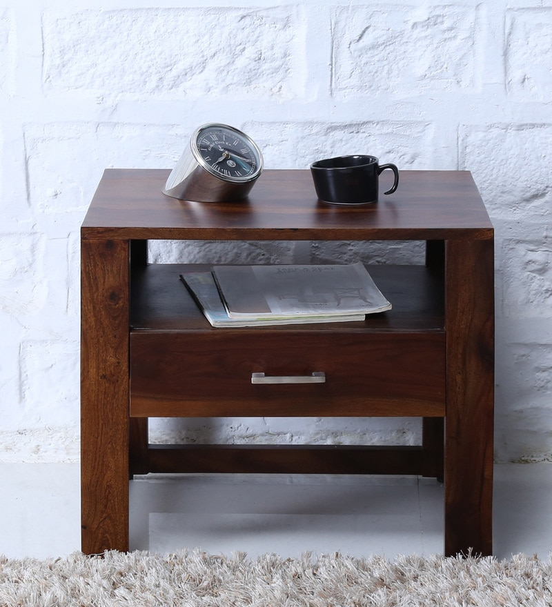 Avian Bed Side Table in Provincial Teak Finish by Woodsworth