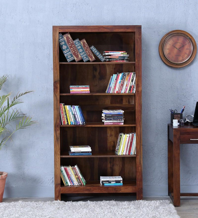 Avian Tall Book Shelf in Provincial Teak Finish by Woodsworth.