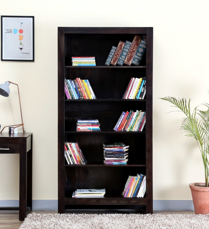 Avian Tall Book Shelf in Warm Chestnut Finish by Woodsworth.